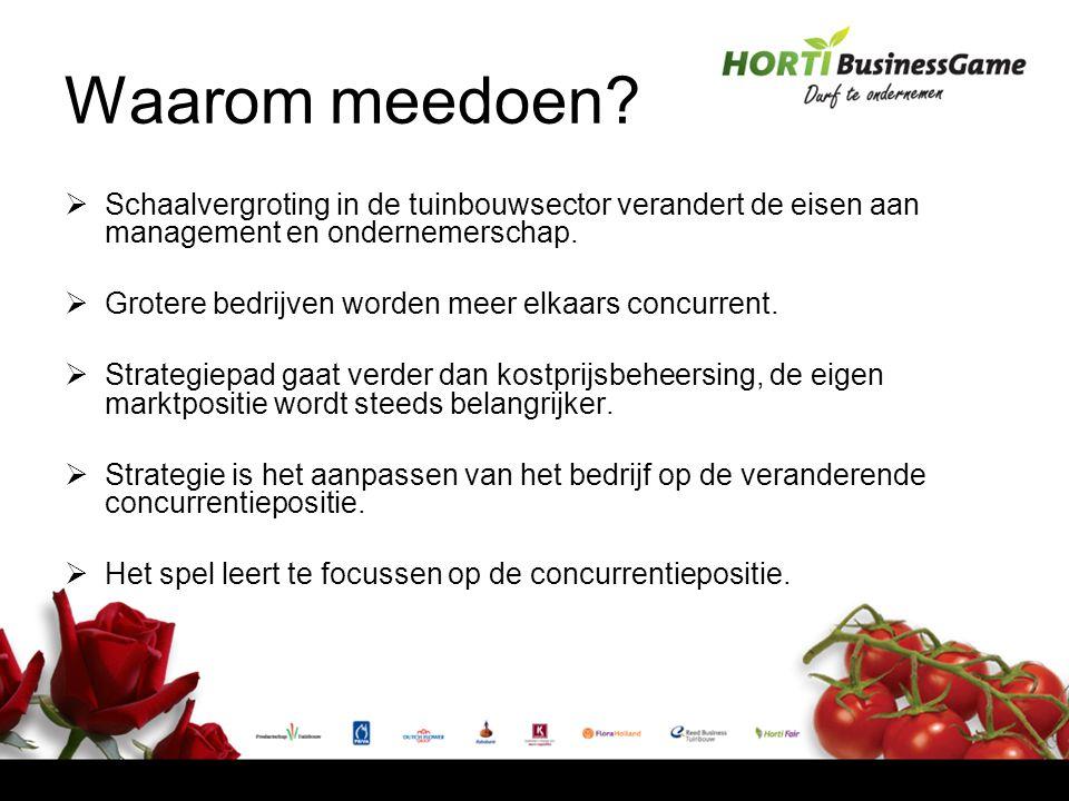  Schaalvergroting in de tuinbouwsector verandert de eisen aan management en ondernemerschap.