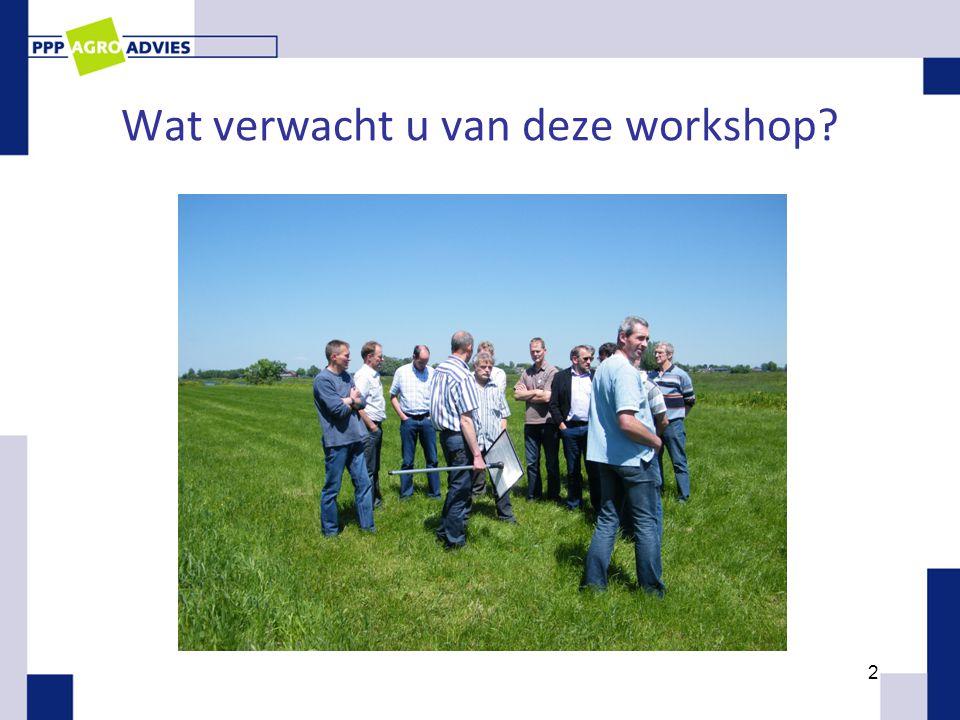 Wat verwacht u van deze workshop? 2