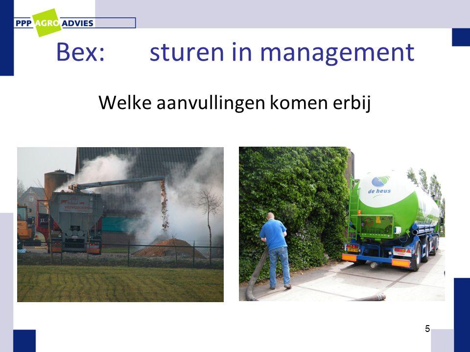 Bex:sturen in management Welke aanvullingen komen erbij 5