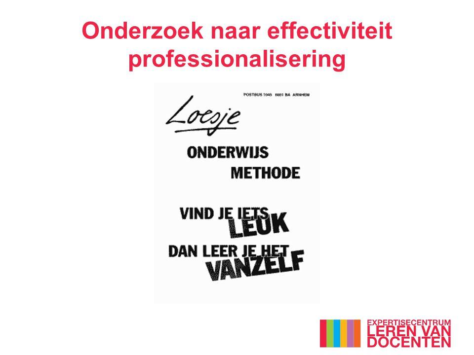 Onderzoek naar effectiviteit professionalisering