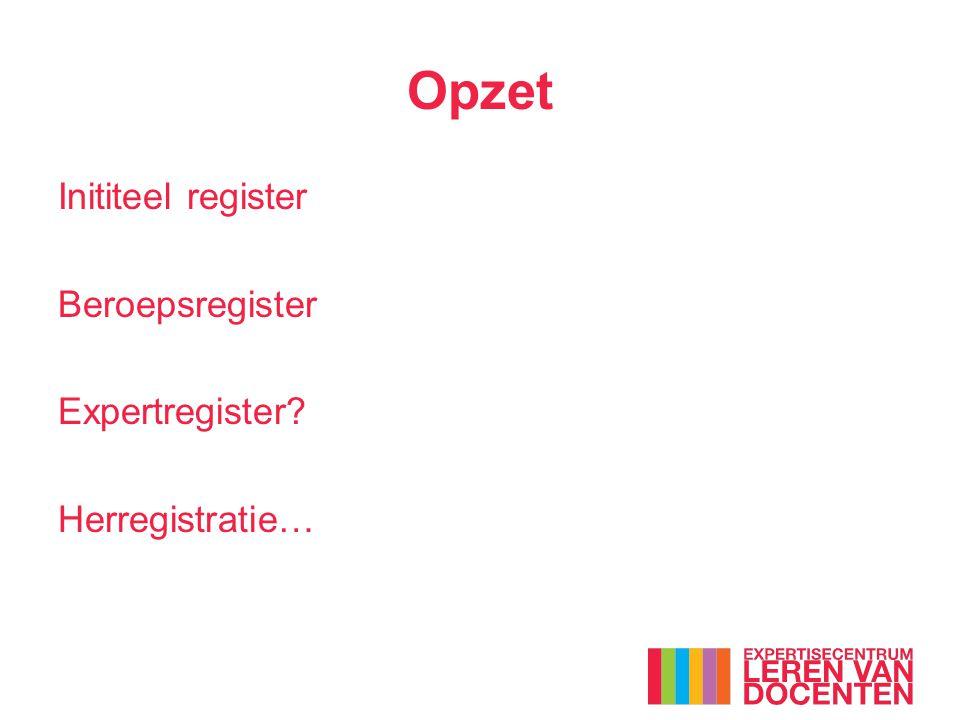 Consequenties (Her)registreren is verplicht: Bij het verlopen van de registratie wordt de inschrijving in het register doorgehaald.