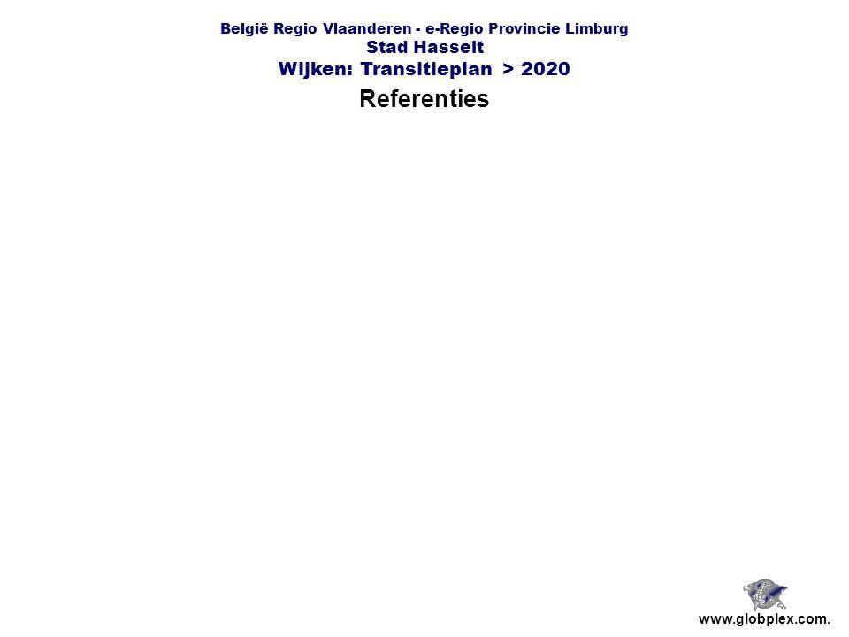 België Regio Vlaanderen - e-Regio Provincie Limburg Stad Hasselt Wijken: Transitieplan > 2020 Referenties www.globplex.com.