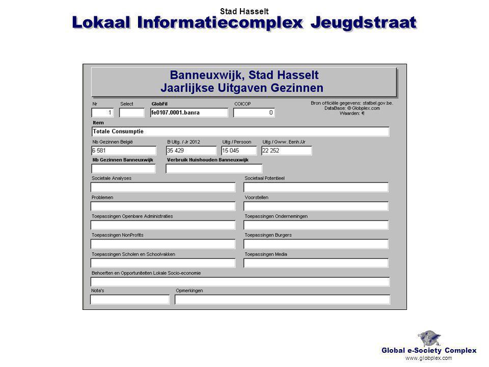 Lokaal Informatiecomplex Jeugdstraat Global e-Society Complex www.globplex.com Stad Hasselt
