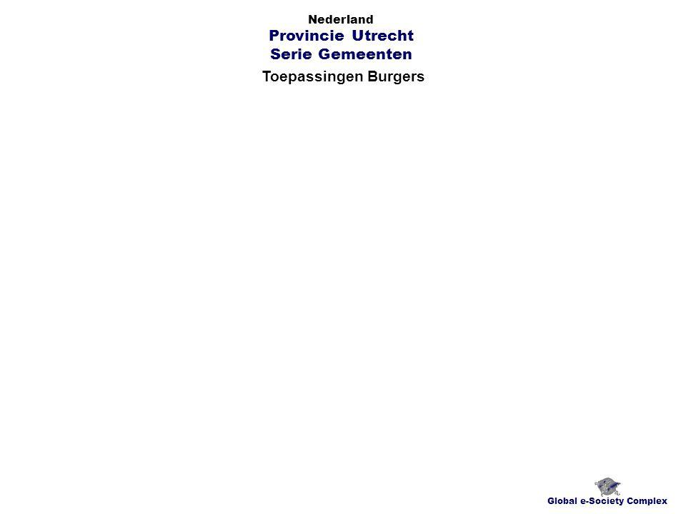 Toepassingen Burgers Global e-Society Complex Nederland Provincie Utrecht Serie Gemeenten