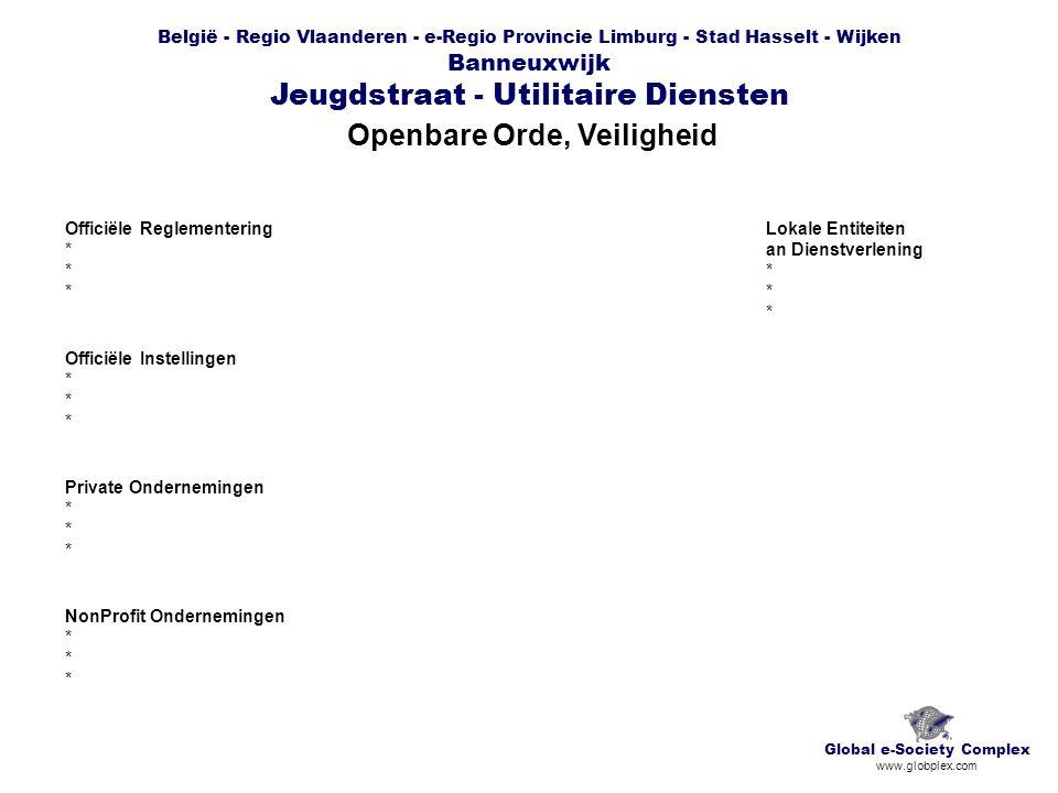 België - Regio Vlaanderen - e-Regio Provincie Limburg - Stad Hasselt - Wijken Banneuxwijk Jeugdstraat - Utilitaire Diensten Openbare Orde, Veiligheid