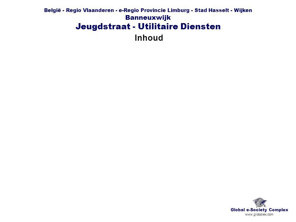 België - Regio Vlaanderen - e-Regio Provincie Limburg - Stad Hasselt - Wijken Banneuxwijk Jeugdstraat - Utilitaire Diensten Inhoud Global e-Society Co