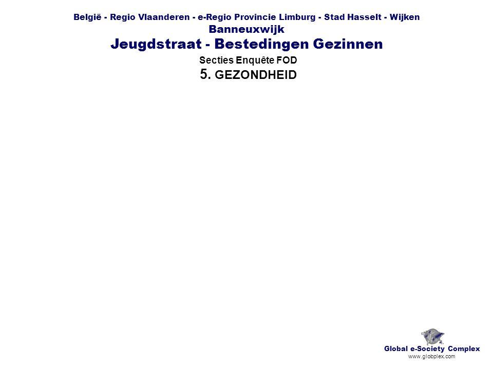 België - Regio Vlaanderen - e-Regio Provincie Limburg - Stad Hasselt - Wijken Banneuxwijk Jeugdstraat - Bestedingen Gezinnen Secties Enquête FOD 5.