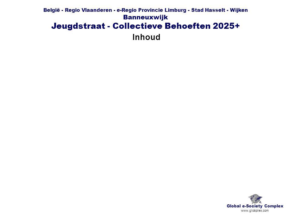 België - Regio Vlaanderen - e-Regio Provincie Limburg - Stad Hasselt - Wijken Banneuxwijk Jeugdstraat - Collectieve Behoeften 2025+ Basiskaart Global e-Society Complex www.globplex.com