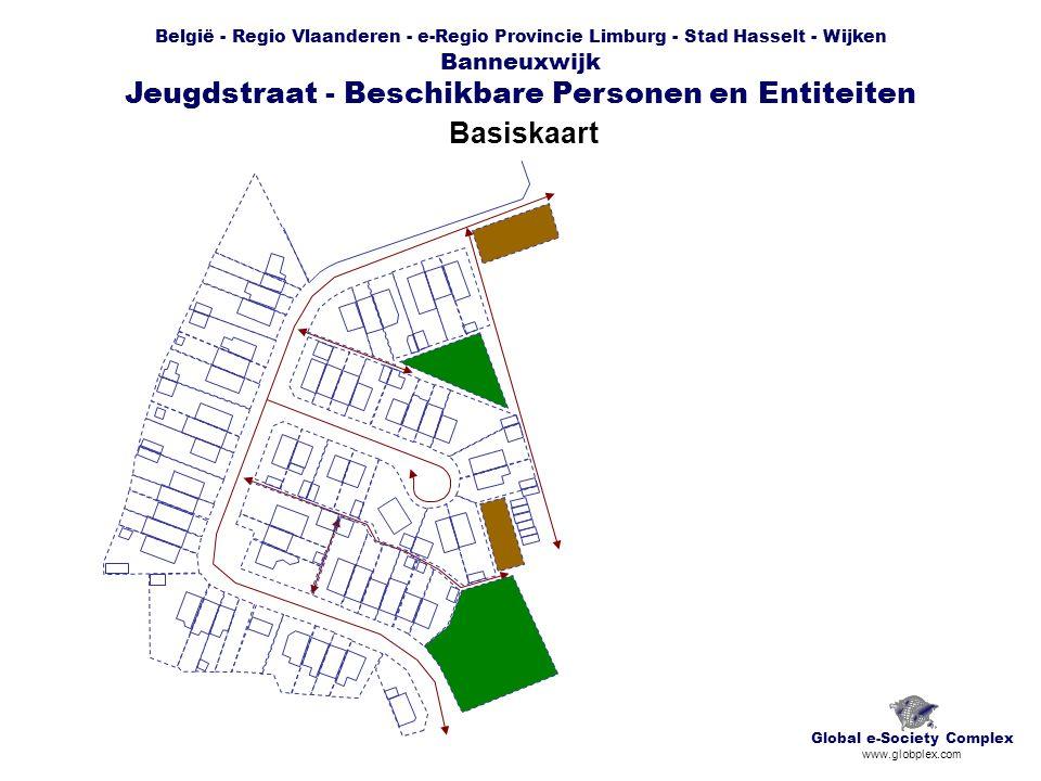 België - Regio Vlaanderen - e-Regio Provincie Limburg - Stad Hasselt - Wijken Banneuxwijk Jeugdstraat - Beschikbare Personen en Entiteiten Basiskaart