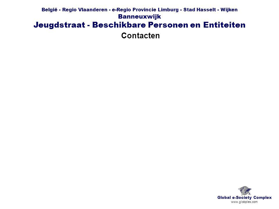 België - Regio Vlaanderen - e-Regio Provincie Limburg - Stad Hasselt - Wijken Banneuxwijk Jeugdstraat - Beschikbare Personen en Entiteiten Contacten G