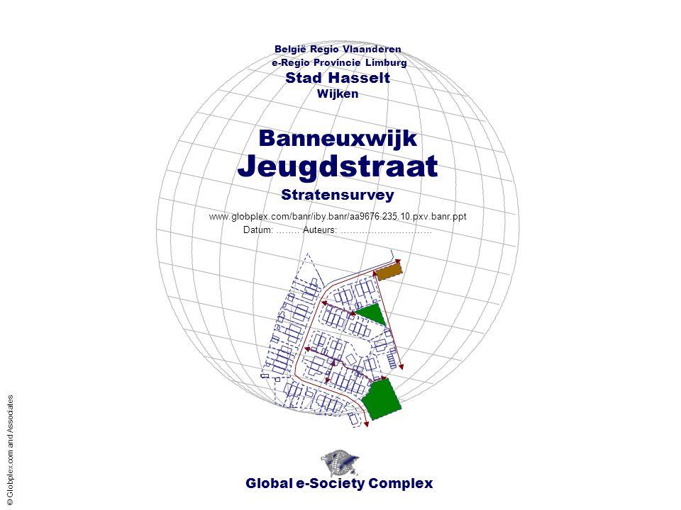 Global e-Society Complex België Regio Vlaanderen e-Regio Provincie Limburg Stad Hasselt www.globplex.com/banr/iby.banr/aa9676.235.10.pxv.banr.ppt Stratensurvey Wijken Datum: ……..