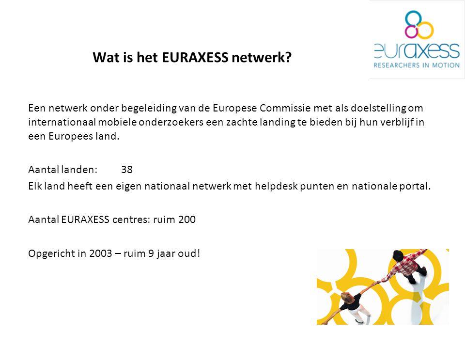Wat is het EURAXESS netwerk.