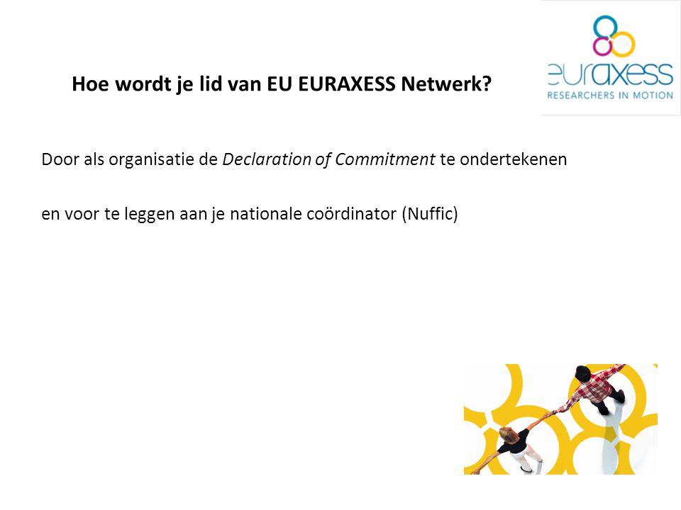 Hoe wordt je lid van EU EURAXESS Netwerk.