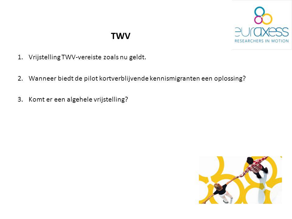 1.Vrijstelling TWV-vereiste zoals nu geldt.