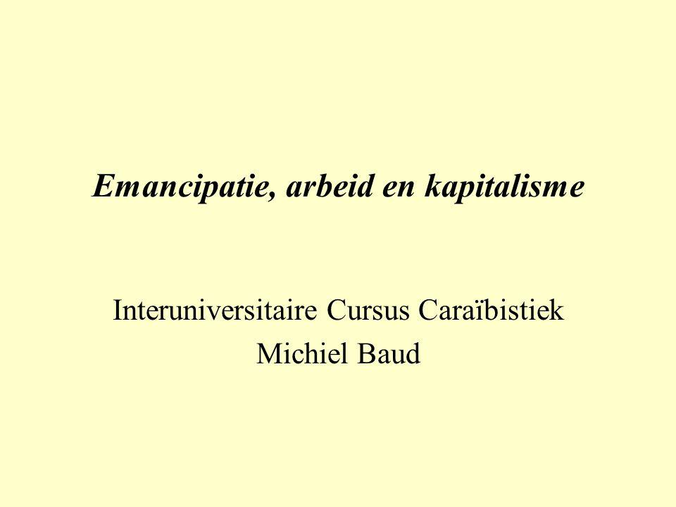 Emancipatie, arbeid en kapitalisme Interuniversitaire Cursus Caraïbistiek Michiel Baud