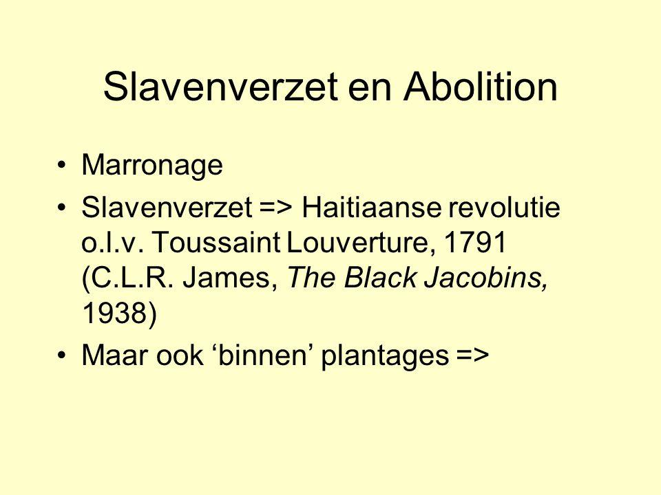 Verklaringen voor Abolition Religieus-ethische motieven: William Wilberforce Tegenstelling kapitalisme en slavernij (Eric Williams, Capitalism and sla