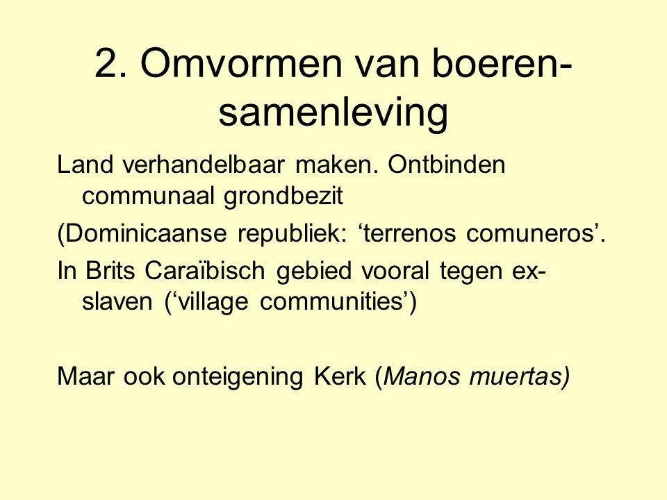 Gevolgen Nieuwe vormen van binding en controle (apprenticeship, 'Staatstoezicht') Ontstaan van nieuwe boerenklasse van ex-slaven => peasantization, mé