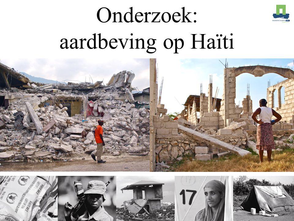Onderzoek: aardbeving op Haïti