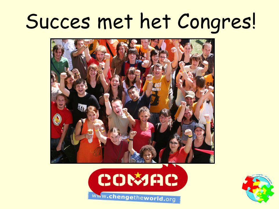 Succes met het Congres!