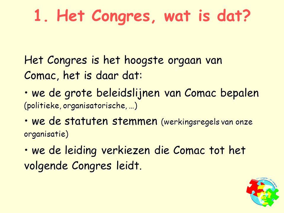 1. Het Congres, wat is dat.