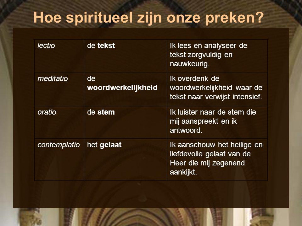 Hoe spiritueel zijn onze preken? lectiode tekstIk lees en analyseer de tekst zorgvuldig en nauwkeurig. meditatiode woordwerkelijkheid Ik overdenk de w
