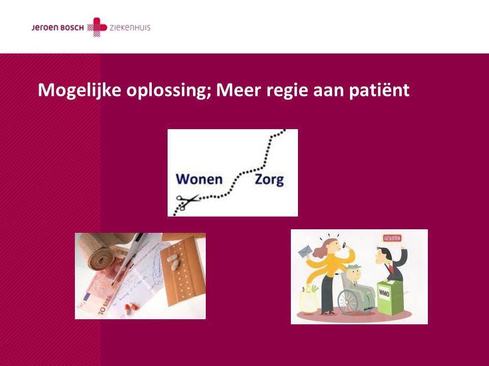 Mogelijke oplossing; Meer regie aan patiënt
