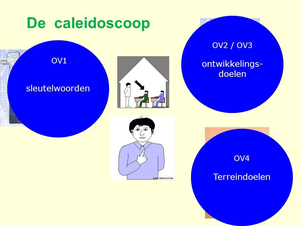 De caleidoscoop OV2 / OV3 ontwikkelings- doelen OV4 Terreindoelen OV1 sleutelwoorden