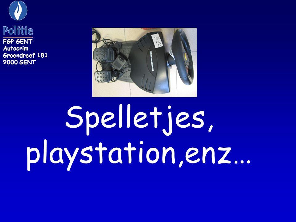 FGP GENT Autocrim Groendreef 181 9000 GENT Spelletjes, playstation,enz…
