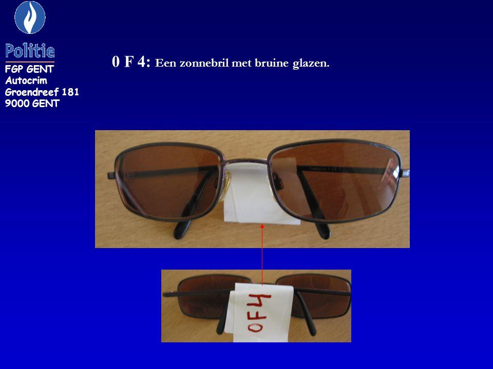 ZR 67: Zwarte brildoos zonder opschrift inhoudende zonnebril van CHANEL FGP GENT Autocrim Groendreef 181 9000 GENT
