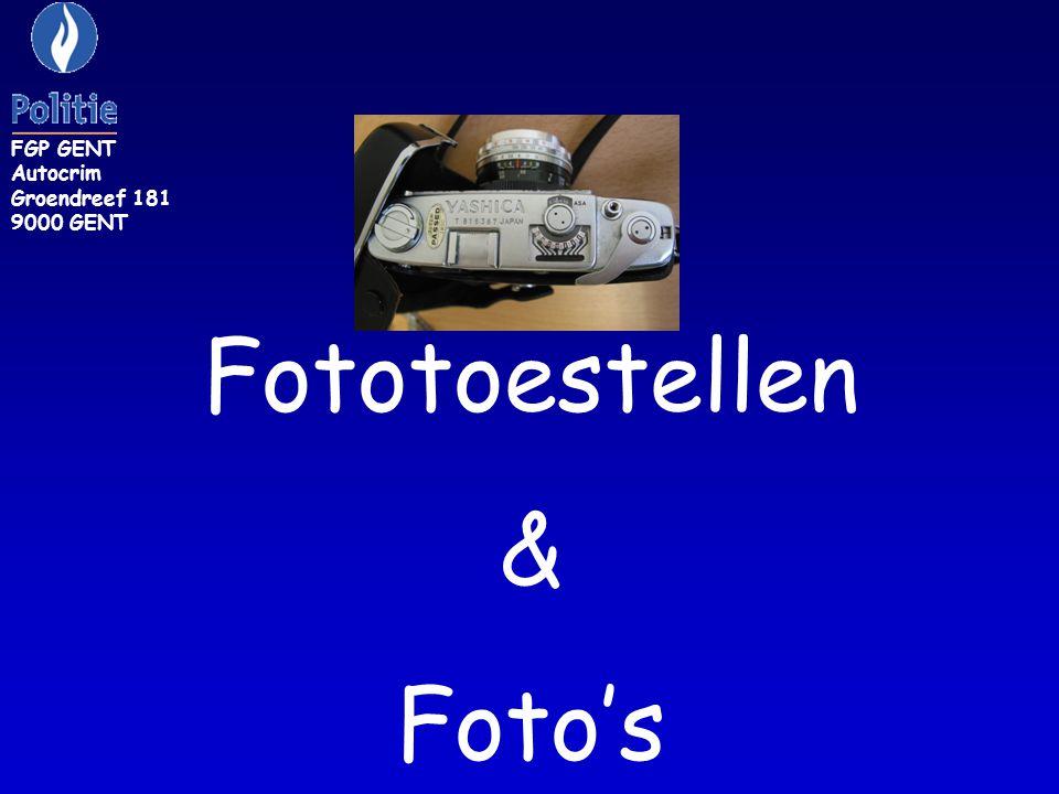 FGP GENT Autocrim Groendreef 181 9000 GENT Fototoestellen & Foto's