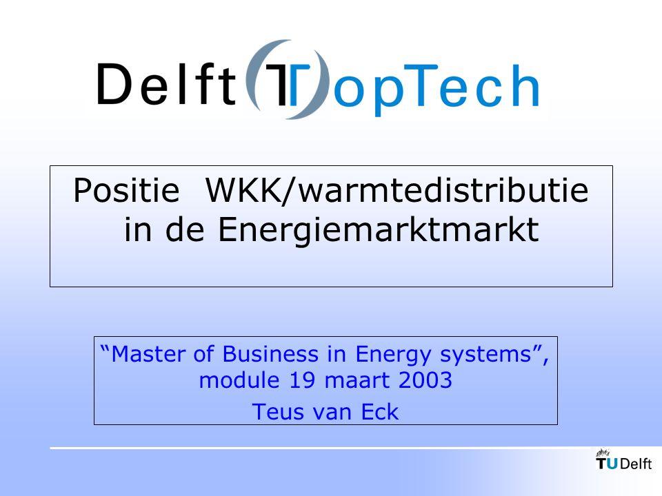Inhoud Wat is WKK.De energiemarkt. De WKK keten. De energie/milieubalans.