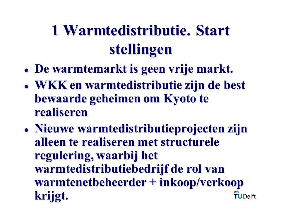 1 Warmtedistributie.Start stellingen l De warmtemarkt is geen vrije markt.