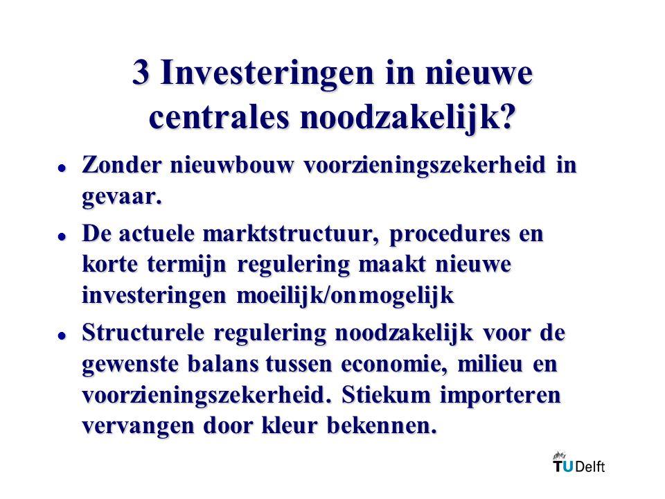 3 Investeringen in nieuwe centrales noodzakelijk.