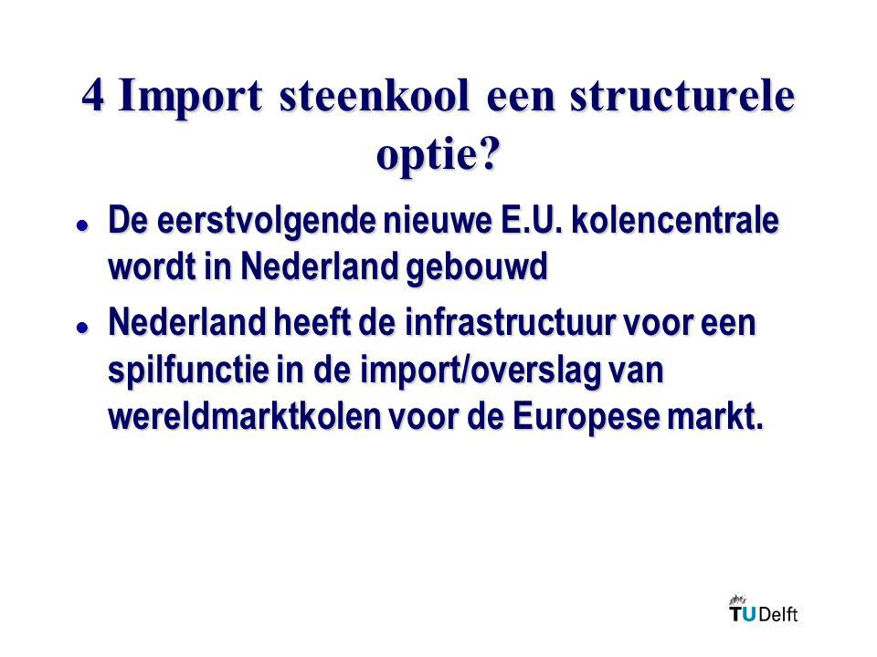 4 Import steenkool een structurele optie.l De eerstvolgende nieuwe E.U.