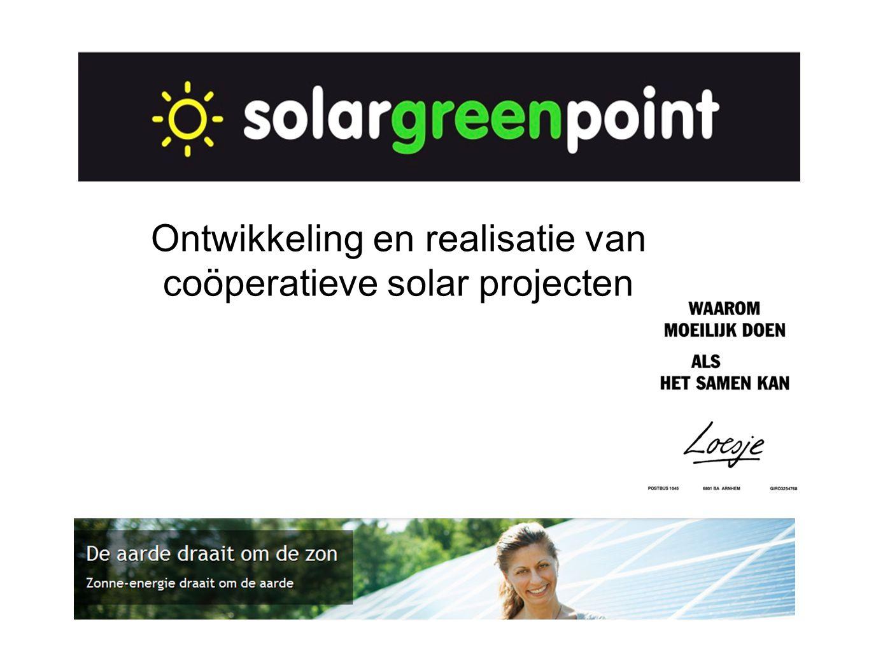 Ontwikkeling en realisatie van coöperatieve solar projecten