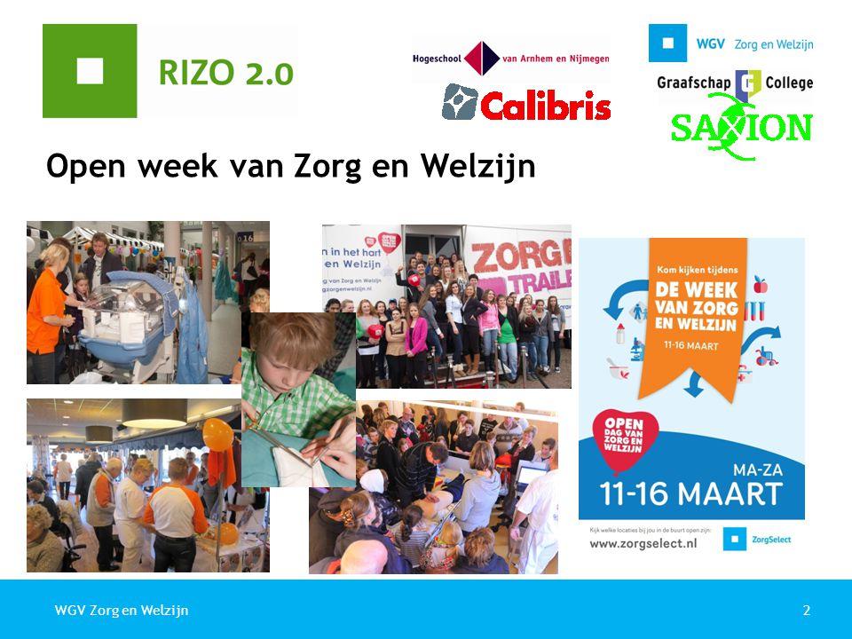 2WGV Zorg en Welzijn Open week van Zorg en Welzijn