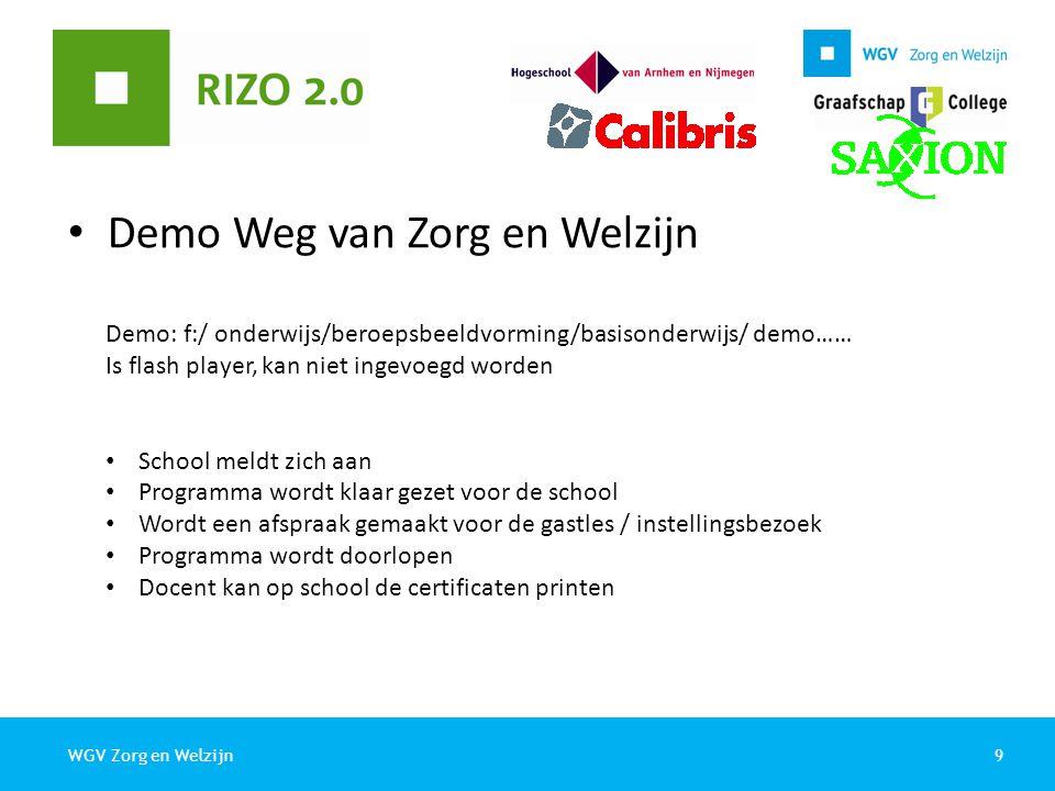 10WGV Zorg en Welzijn Programma 09.20 – 10.40Ronde 1 A.