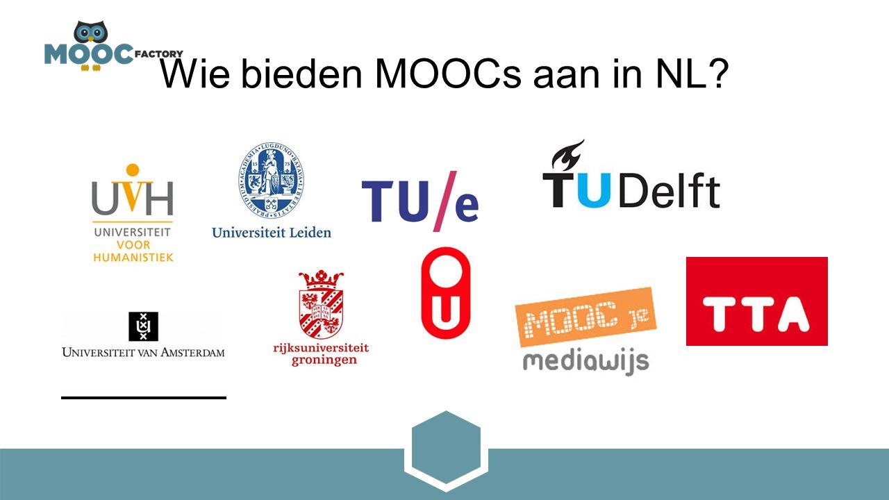Wie bieden MOOCs aan in NL