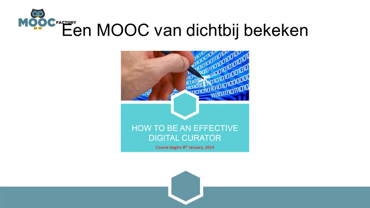 Een MOOC van dichtbij bekeken