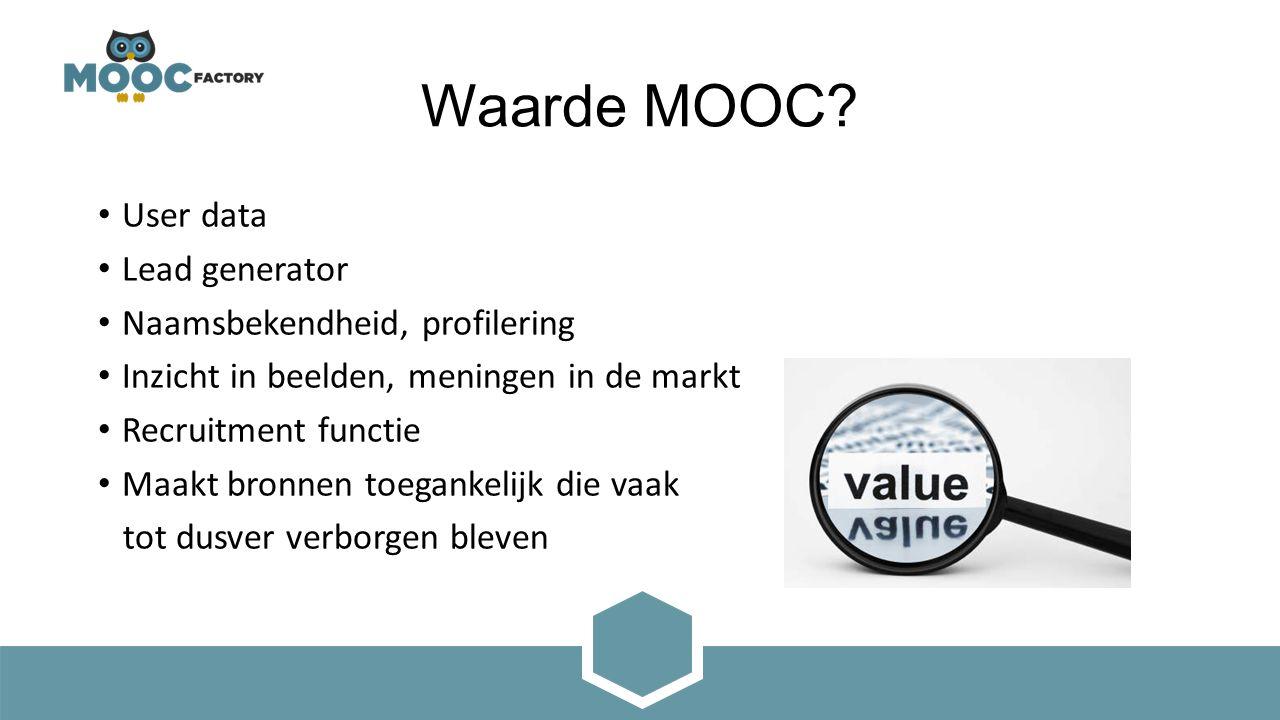 Waarde MOOC.