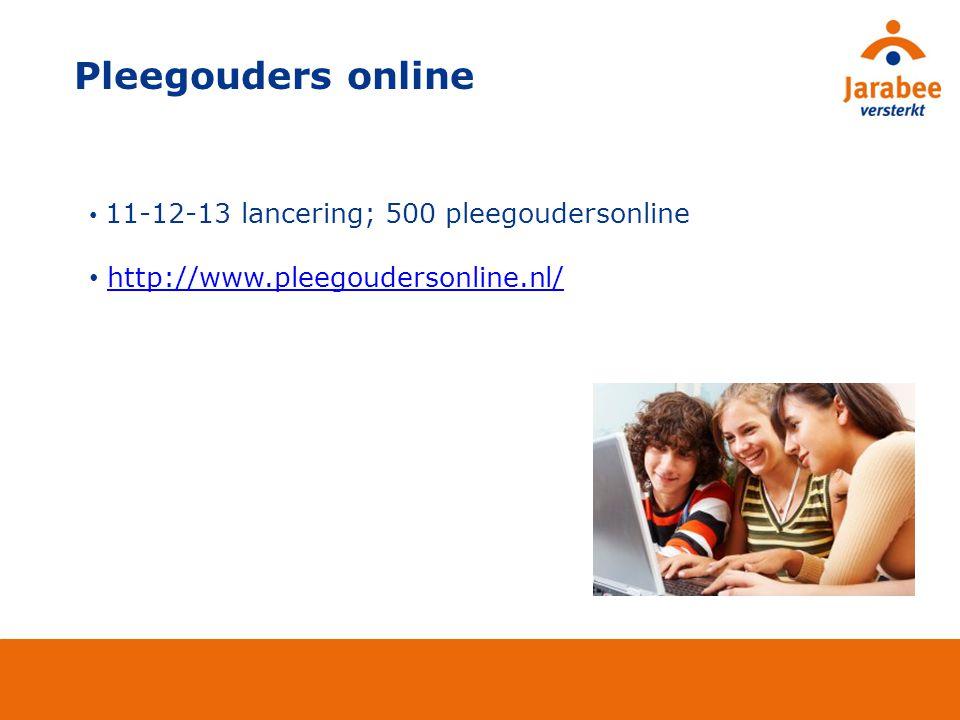 11-12-13 lancering; 500 pleegoudersonline http://www.pleegoudersonline.nl/ Pleegouders online