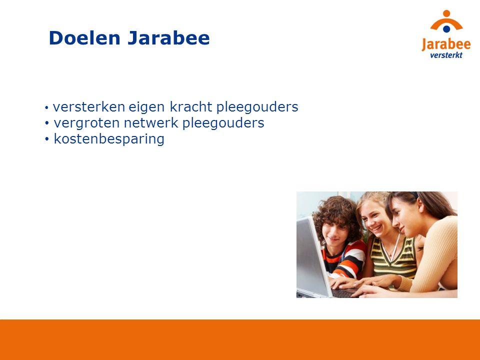 versterken eigen kracht pleegouders vergroten netwerk pleegouders kostenbesparing Doelen Jarabee