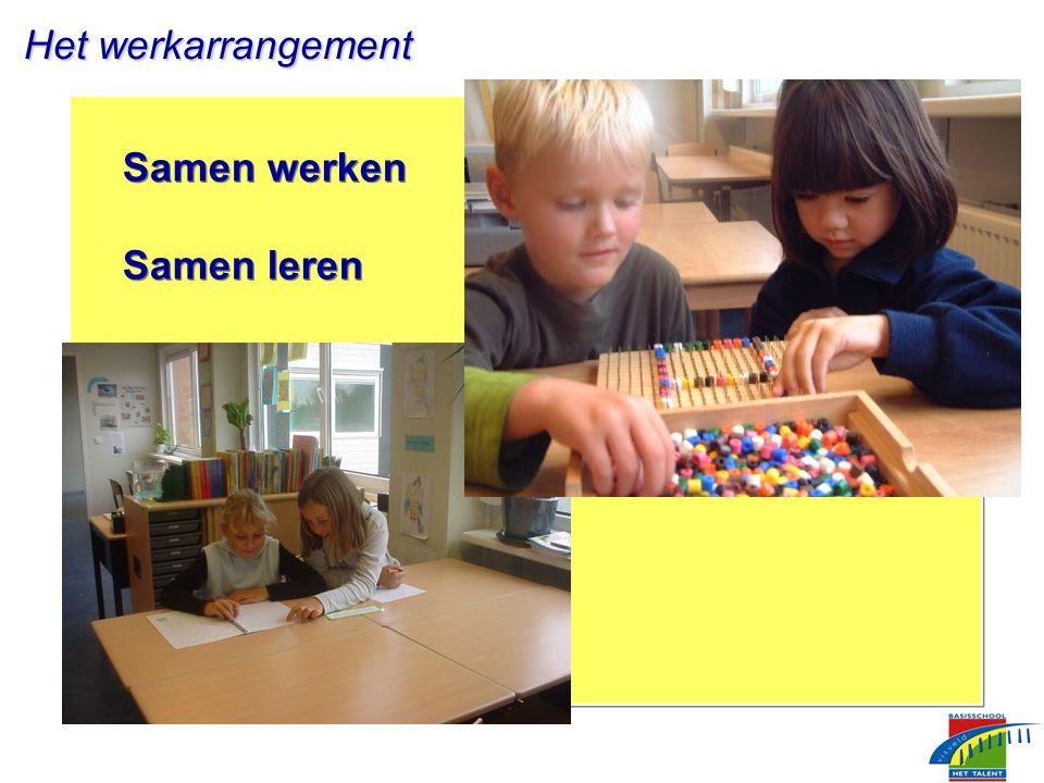 Samen werken Samen leren Samen werken Samen leren Het werkarrangement Het werkarrangement