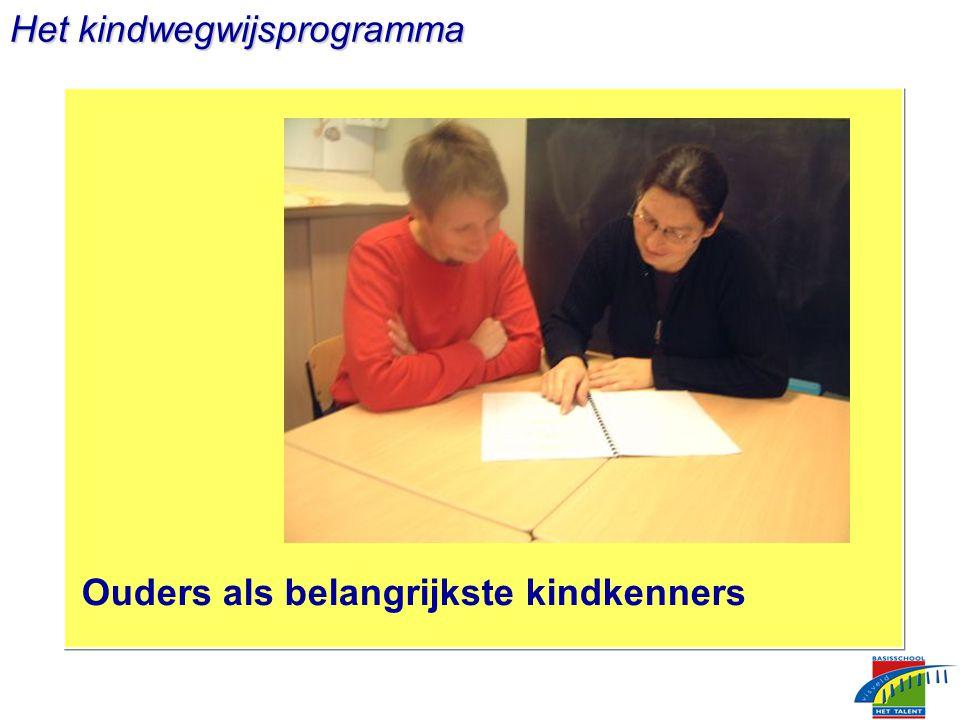 Het kindwegwijsprogramma Ouders als belangrijkste kindkenners
