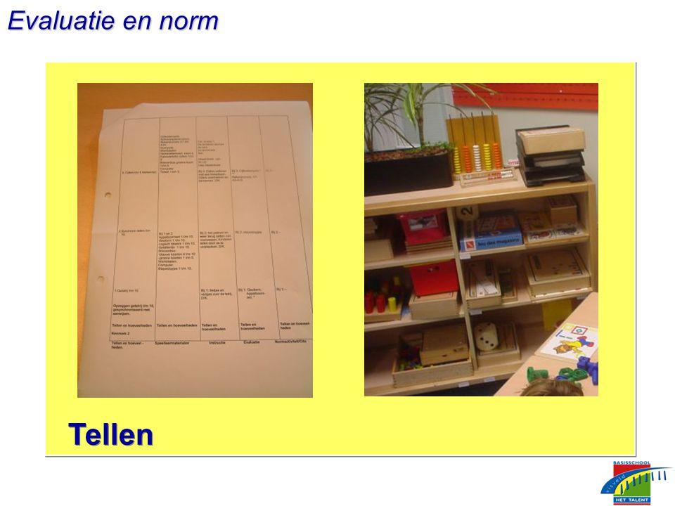 Evaluatie en norm Tellen
