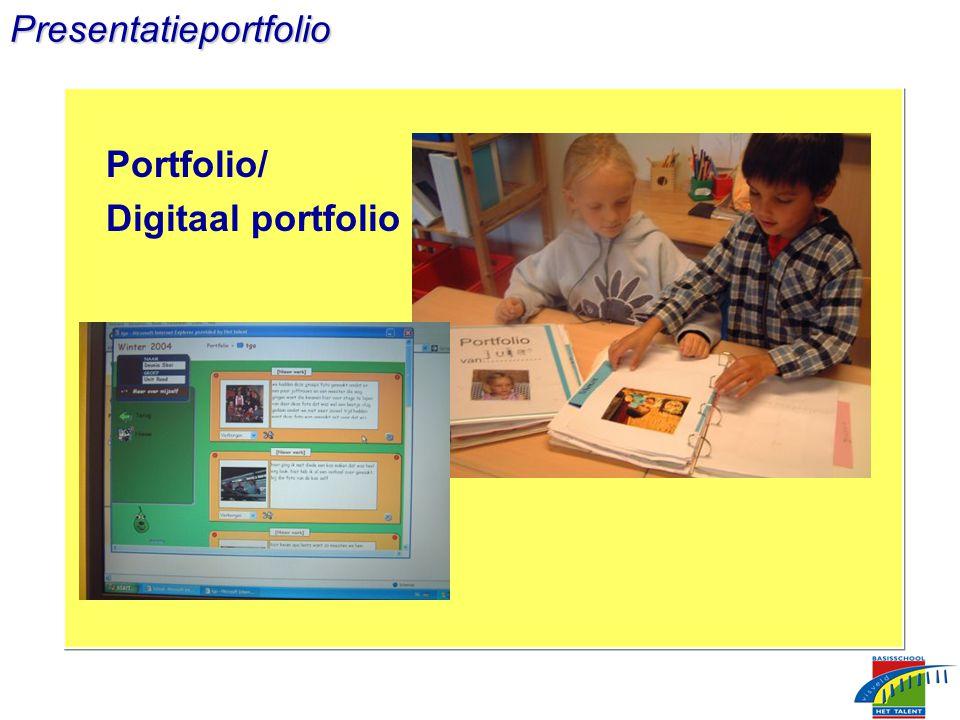 Presentatieportfolio Portfolio/ Digitaal portfolio