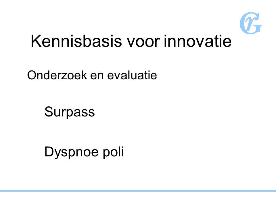 Klinisch onderzoek voor innovatie Evidence based practice ASS/PGB Implementatie van richtlijnen
