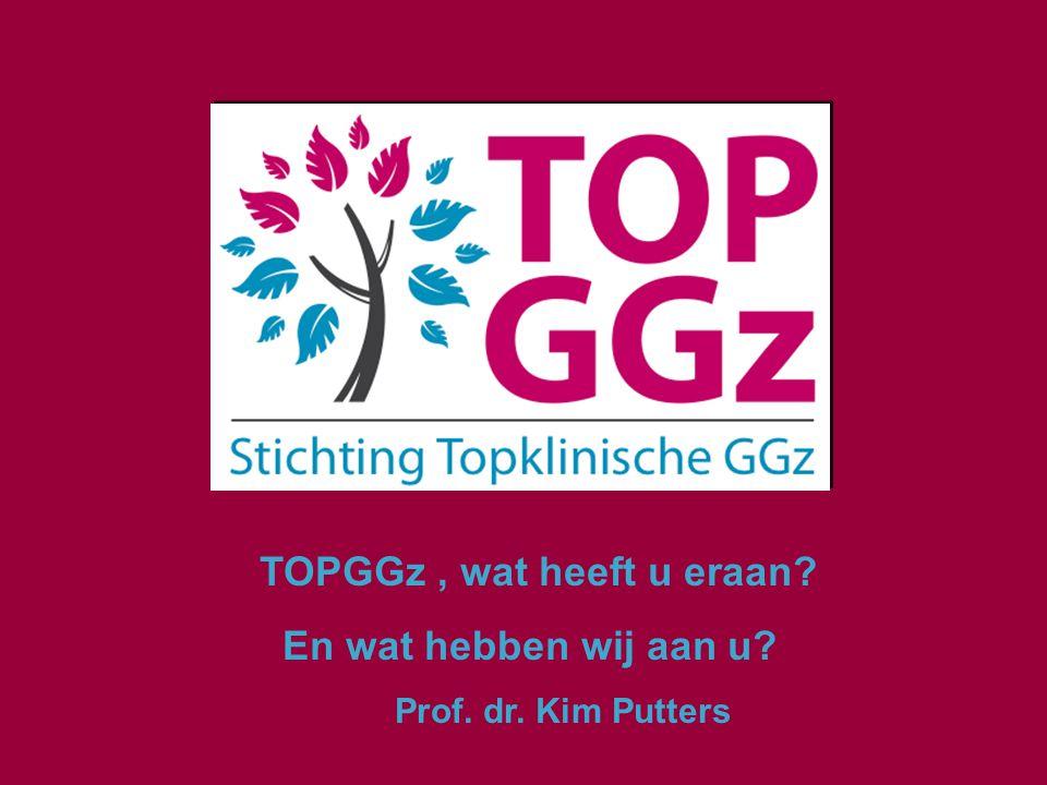 TOPGGz, wat heeft u eraan? En wat hebben wij aan u? Prof. dr. Kim Putters