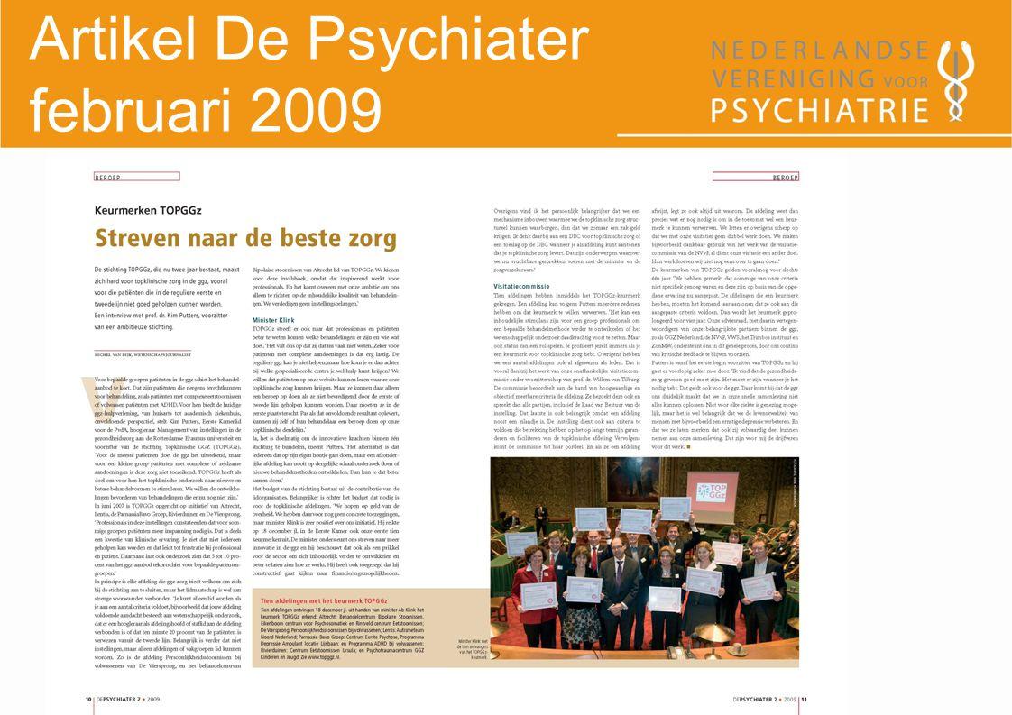 Artikel De Psychiater februari 2009