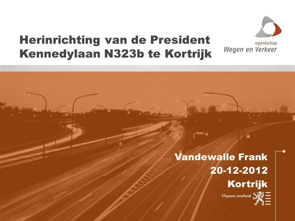 Vandewalle Frank 20-12-2012 Kortrijk Herinrichting van de President Kennedylaan N323b te Kortrijk